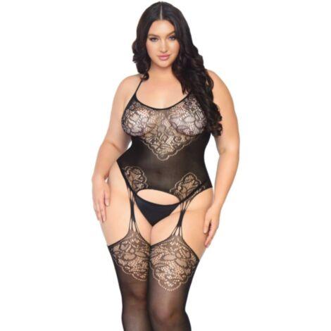 Leg Avenue Lace Suspender Bodystocking Plus Size